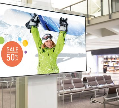 Large Format Display von iiyama für den Point of Sale und Point of Interest
